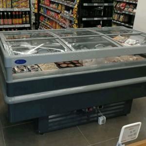 Supermarket Promotion Cabinet,Dual Compressor,Dual Temperature,Freezer & Chiller Island Freezer