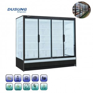 Commercial Beverage Upright Clear Glass Door Refrigerator
