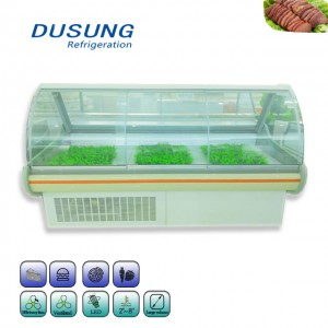 Commercial Open Counter Deli Fish Display Refrigerator