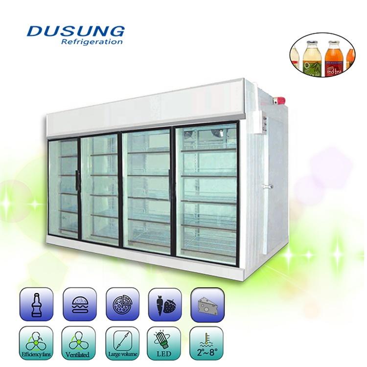 Supermarket Storage Glass Door Walk In  Cold Room For Beverage Featured Image