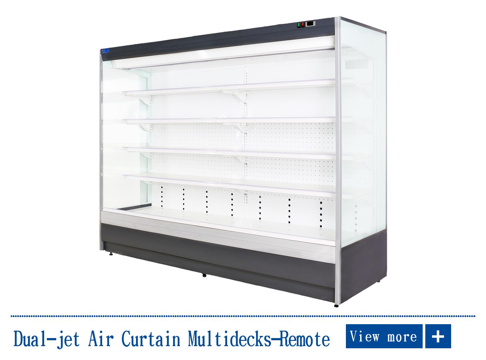 Dual Air Curtain Refrigerator