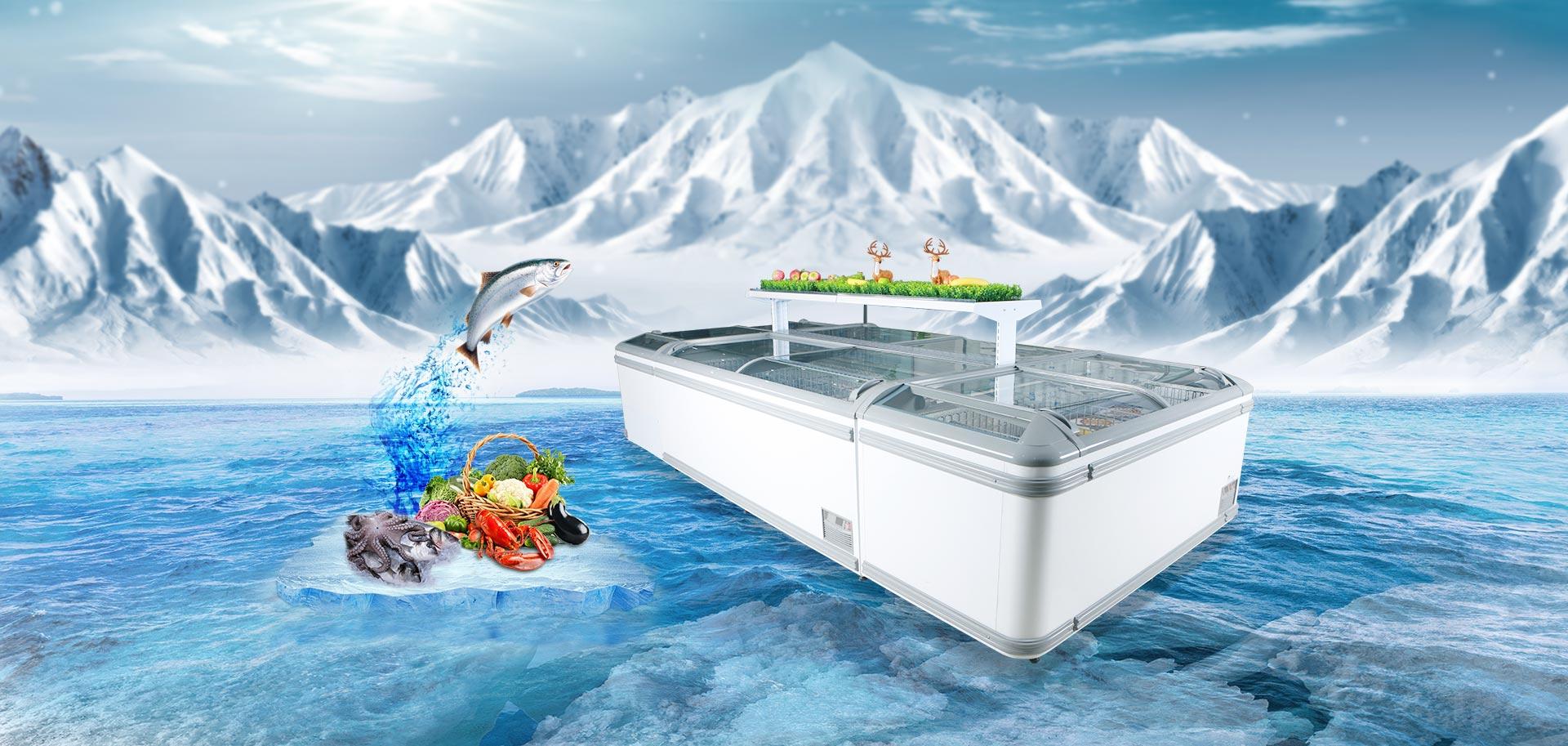 supermarket island freezer