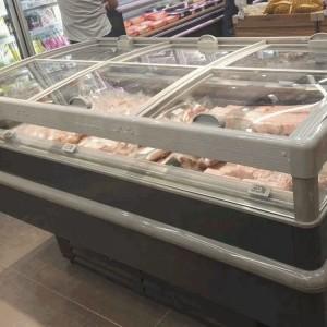 Chiller refrigerator cabinet supermarket island freezer