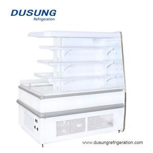 Dusung सुविधा स्टोर कुंडलाकार खुला प्रदर्शन रेफ्रिजरेटर