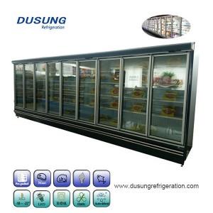 Kaca pintu freezer untuk supermarket makanan beku