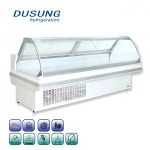Commercial Open Counter Deli Fish Display Refrigerator