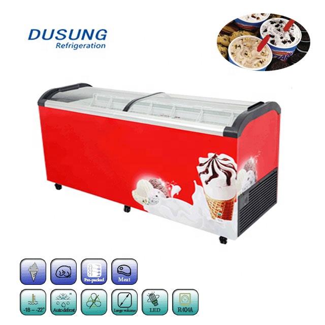 Sliding-glass-door-commercial-display-ice-cream