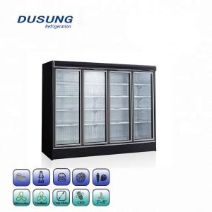 Supermarket Refrigerator Upright Glass Door